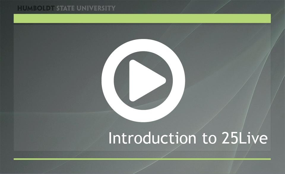 25Live Introduction Video