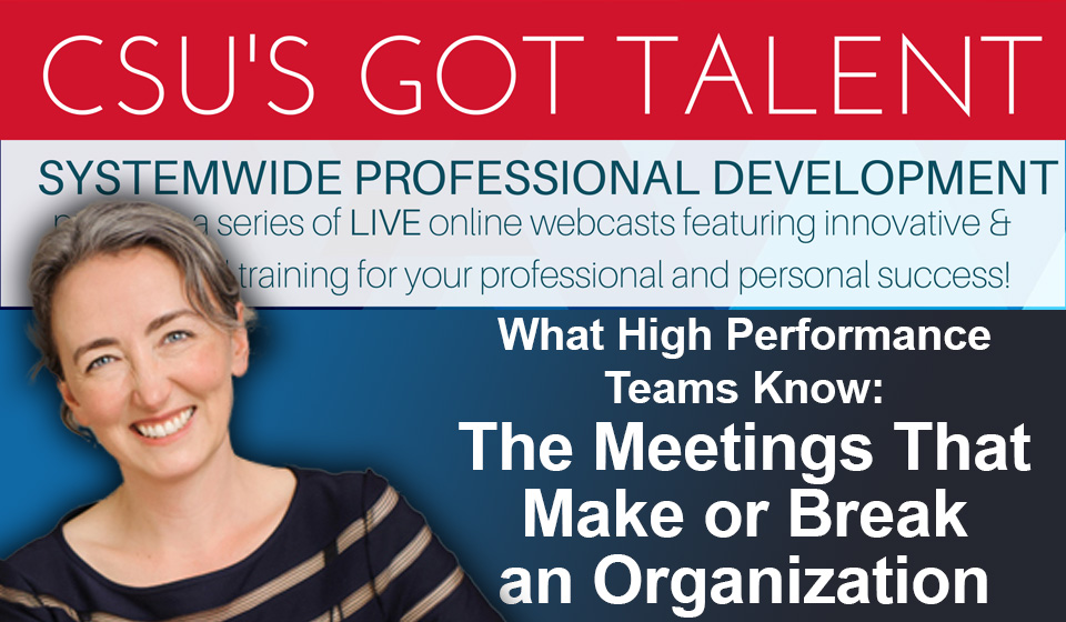 Meetings that Make or Break an Organization